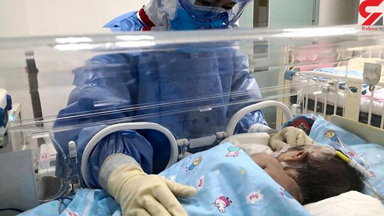 وضعیت بد نوزاد 6 ماهه کرونایی در الیگودرز
