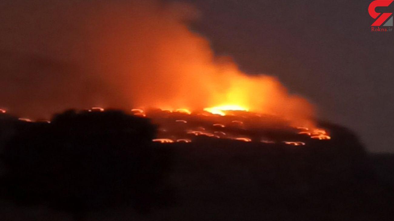 فیلم هولناک از آتش سوزی مراتع کوه نیر کهگیلویه و بویراحمد