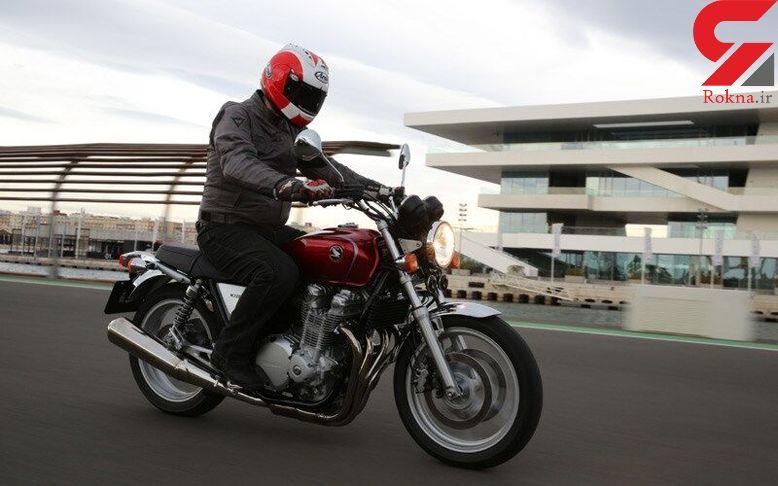 توقیف موتورسیکلت تریاکی در فارس