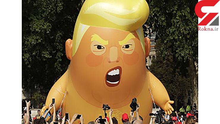 بالون «بچه ترامپ» در آرژانتین هم به پرواز درآمد