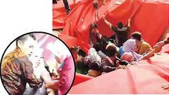 سقوط عروس و داماد و میهمانانش به داخل کانال فاضلاب+ عکس