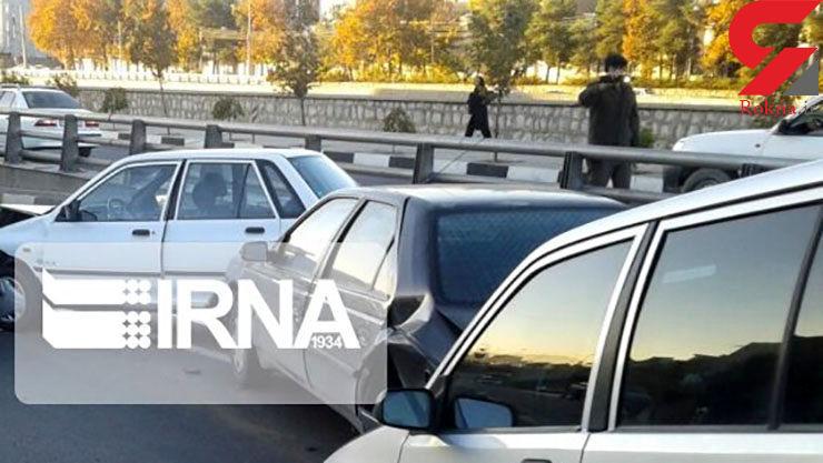 سرعت غیرمجاز علت تصادف زنجیرهای در کازرون بود+ عکس