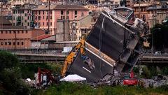 عملیات نجات گمشدگان در حادثه ریزش پل در ایتالیا
