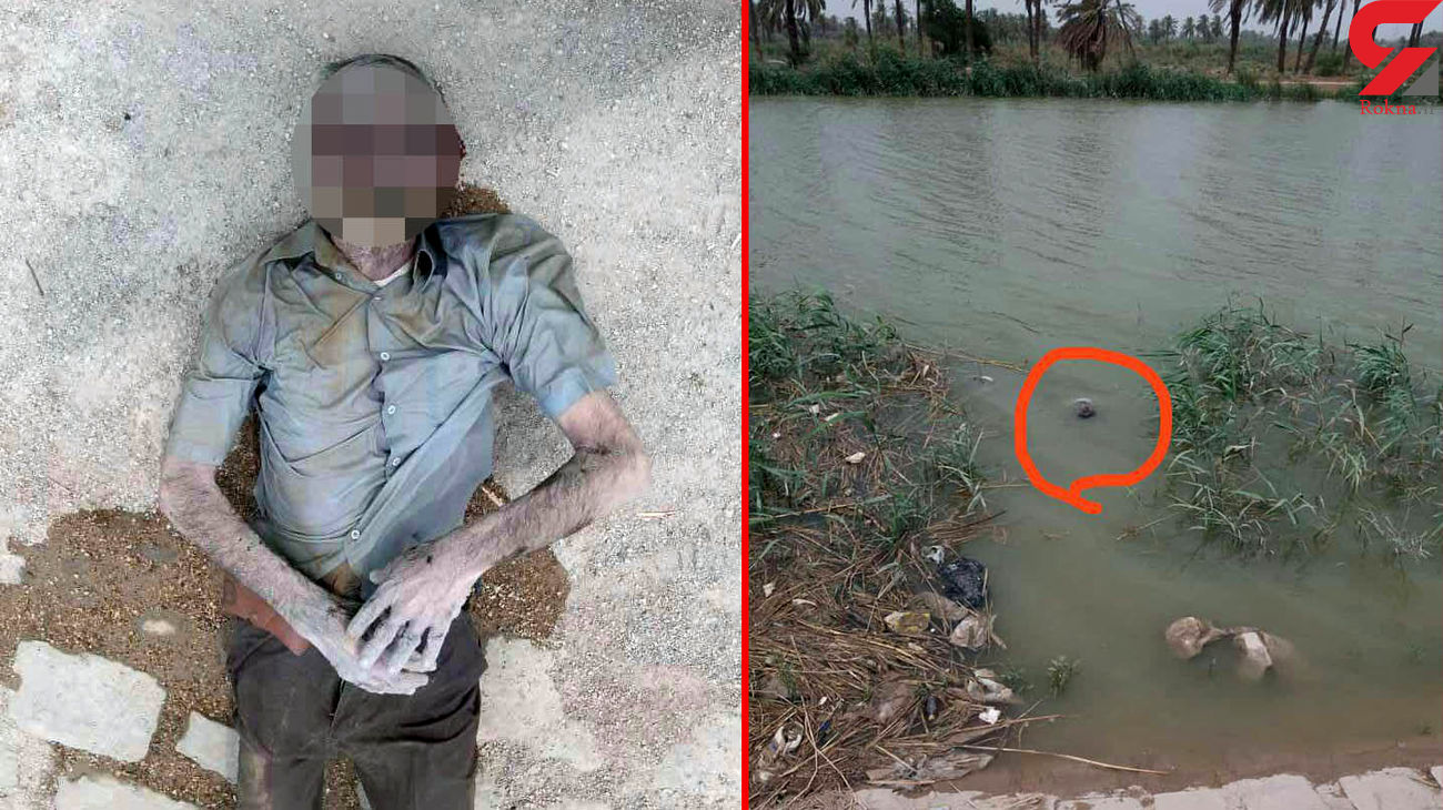 انتشار اولین عکس از جسد یک مرد در آبادان! + عکس محل مرگ دلخراش