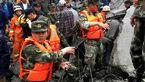 افزایش آمار گمشدگان رانش زمین در چین +فیلم و تصاویر دیدنی