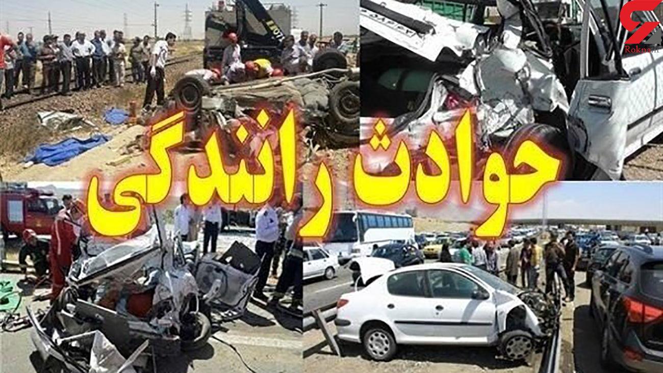 سقوط وحشتناک موتورسیکلت به زیرگذر اصفهان