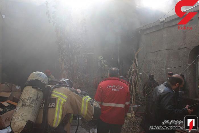 انبار بیمارستان سینا تبریز در آتش سوخت