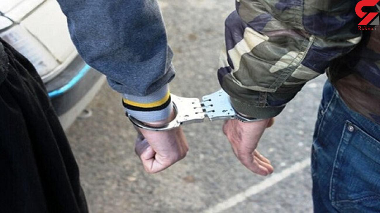 بازداشت یک زن در دفتر مردان خلافکار