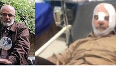 اولین عکس حسین اللهکرم پس از تصادف مشکوک در بیمارستان