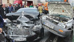 تصادف زنجیرهای اتوبان خرازی اصفهان یک کشته و ۶ مصدوم داشت