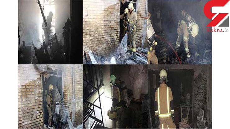 کارگاه تولید کفش در آتش سوخت +عکس