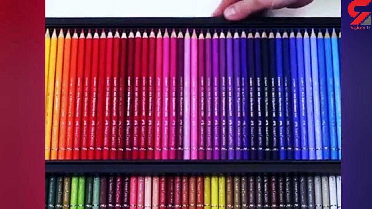 مداد رنگی چطور ساخته می شود؟ + فیلم