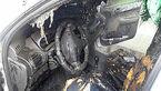 فرار هوشمندانه راننده از داخل 206 قبل از جزغاله شدن+عکس