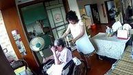 رفتار وحشیانه یک پرستار خانگی با پیرزن معلول+فیلم و عکس