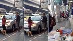 فیلم حمله یک زن با چاقو به شوهرش که شب به خانه نرفته بود+تصاویر