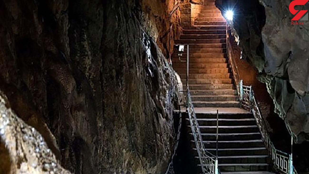 غاری 70 میلیون ساله با 106 پله در ایران + عکس