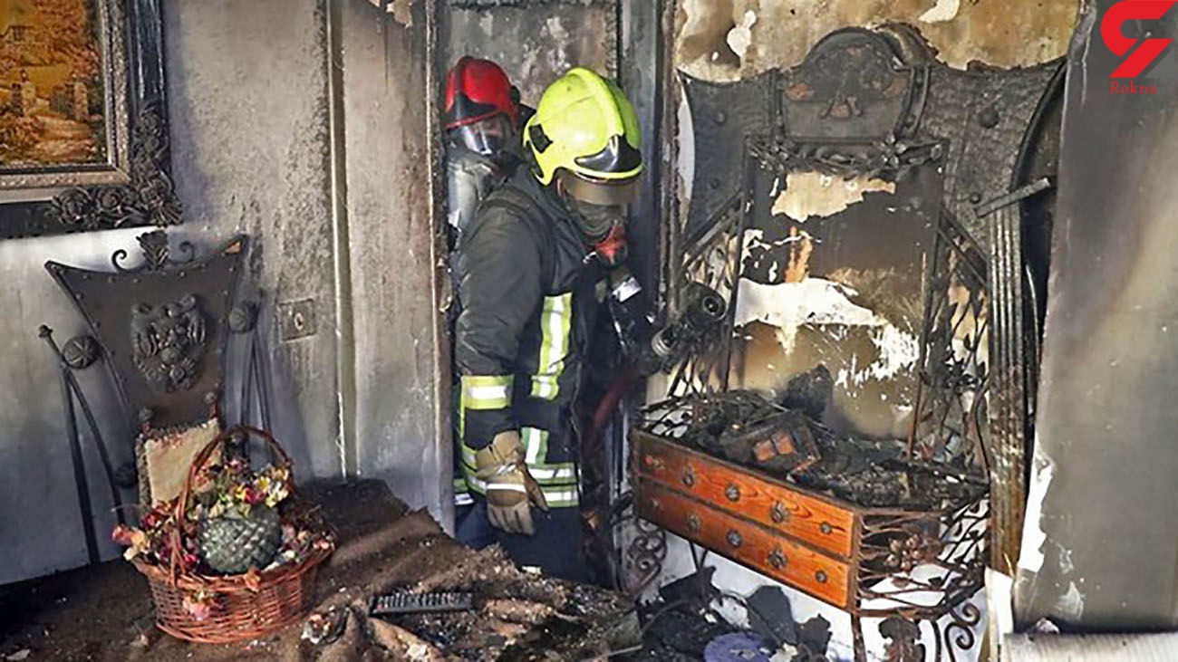 آتش سوزی آپارتمان مسکونی در مشهد / 2 زن و 2 مرد از دود و آتش نجات یافتند