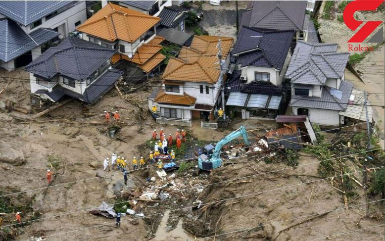 افزایش تعداد کشته های سیل در ژاپن