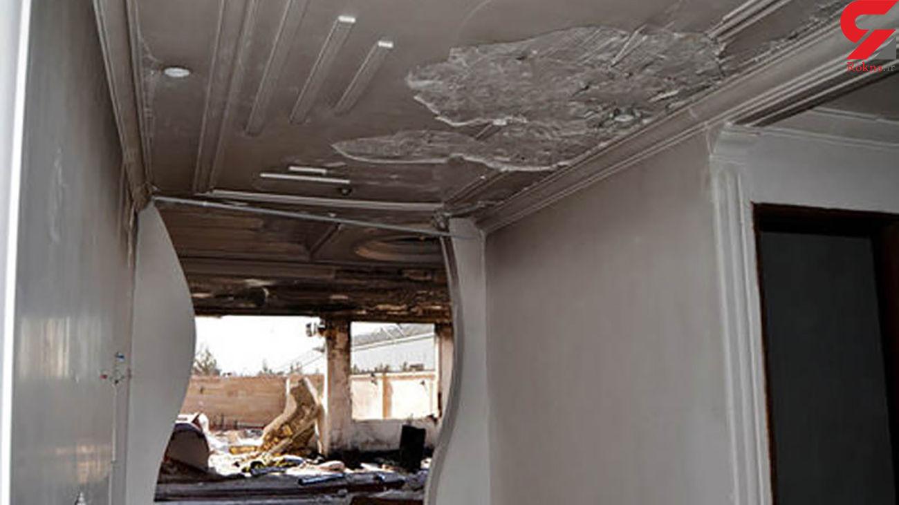 انفجار گاز به یک واحد مسکونی در شهر زنجان خسارت زد