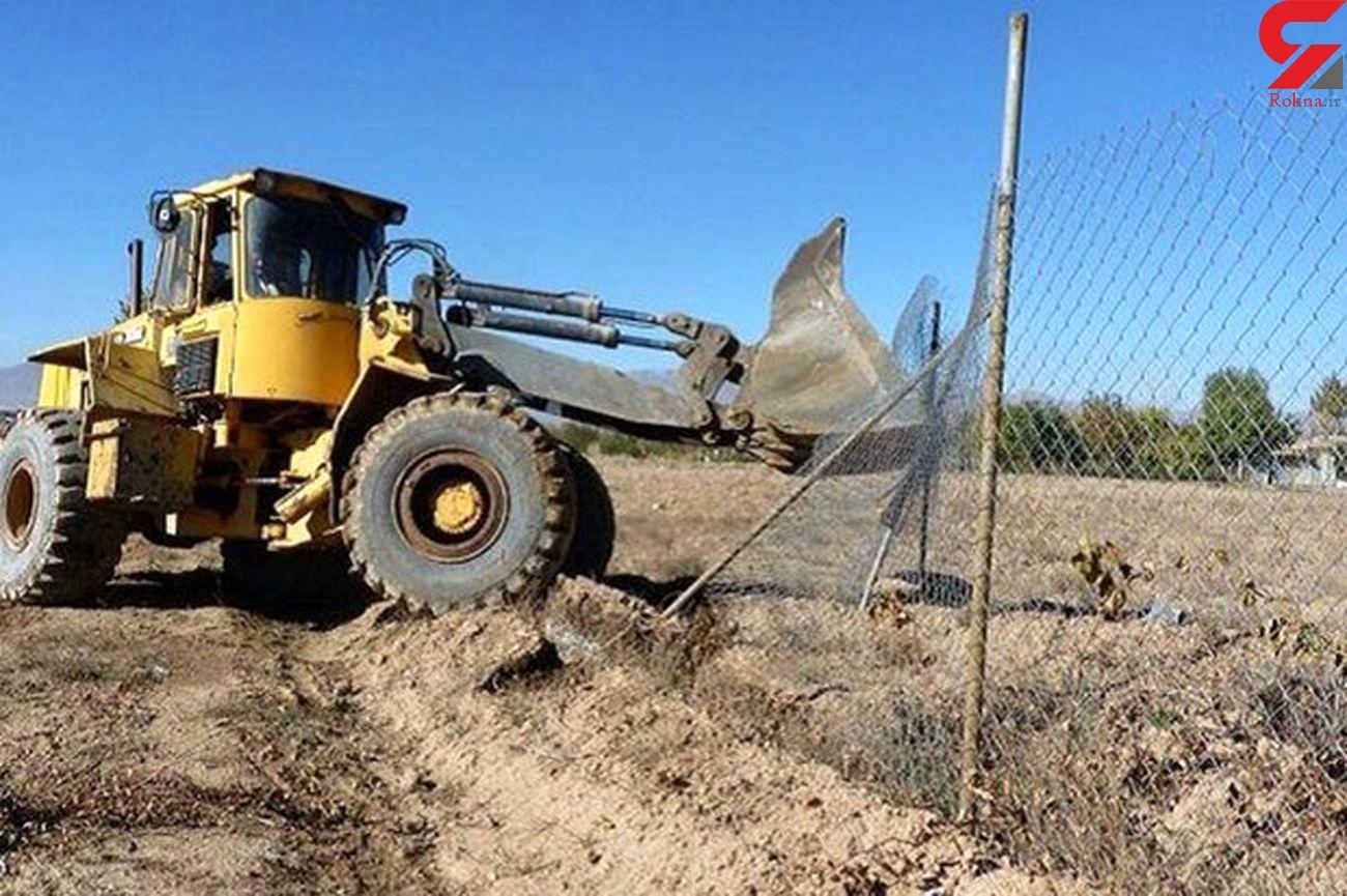 رفع تصرف بیش از ۱۴ هزار متر از اراضی ملی