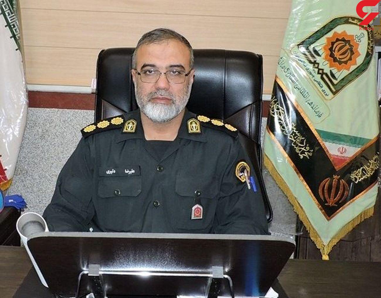 سارقان کابل برق در دام پلیس کرمانشاه