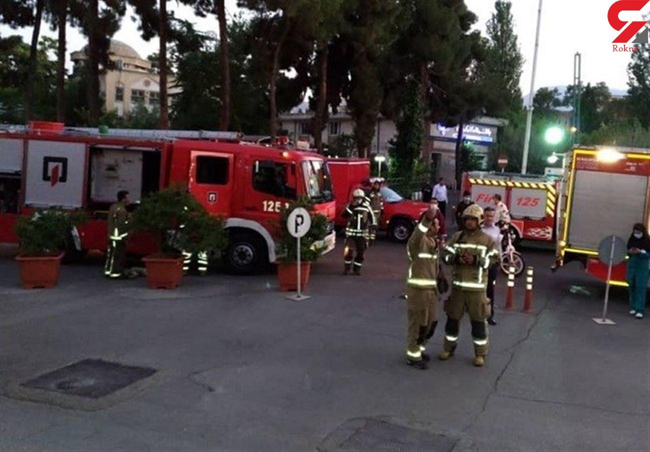 آتش سوزی در بیمارستان شریعتی تهران  / اتاق تولد در آتش سوخت  + عکس ها