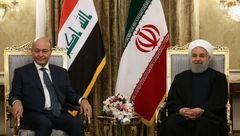 شوخی جالب حسن روحانی با رئیس جمهور عراق+عکس