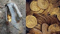 صدها سکه طلا کشف شد+عکس