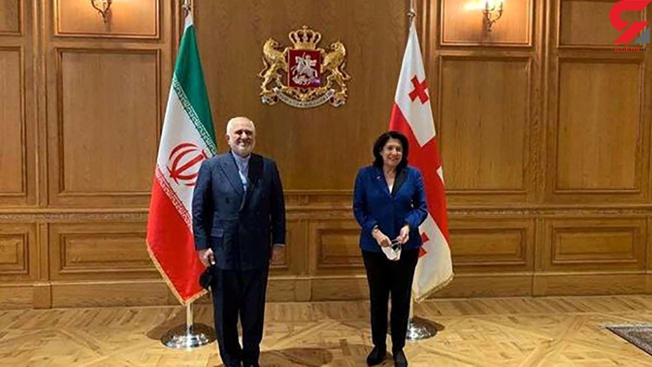 دیدار ظریف با رئیسجمهور گرجستان