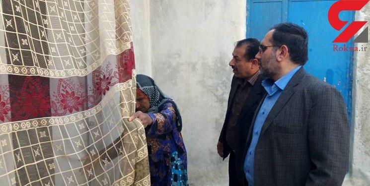 زن لودابی و دو دختر معلولش به همت کمیته امداد خانه دار شدند