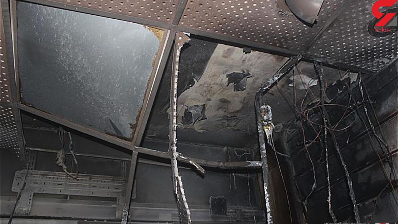 بازار بزرگ تهران آتش گرفت + 5 عکس از عملیات آتش نشانان