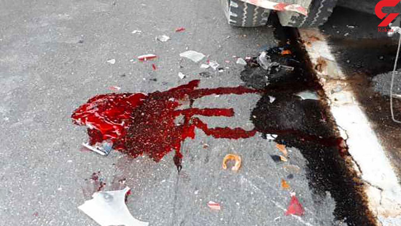 تصادف مرگبار سمند با موتورسیکلت در محور دلیجان