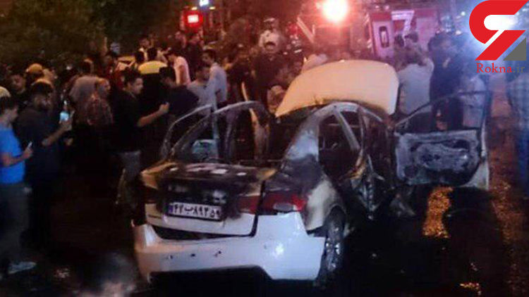 انفجار سوناتا در گرگان / راننده کشته شد +عکس