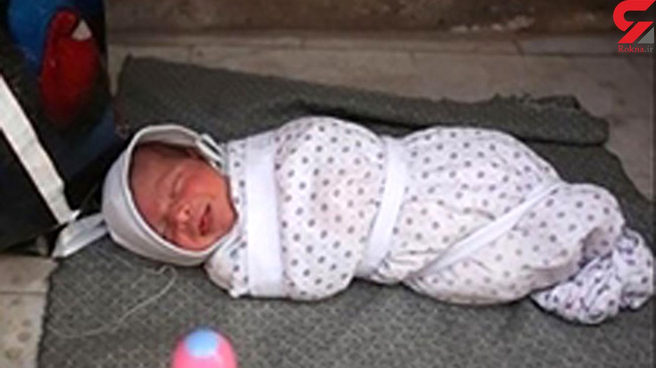 این نوزاد دختر در جاده آمل رها شده بود+عکس