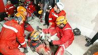نجات مرد ۵۰ ساله پیشوایی از عمق چاه