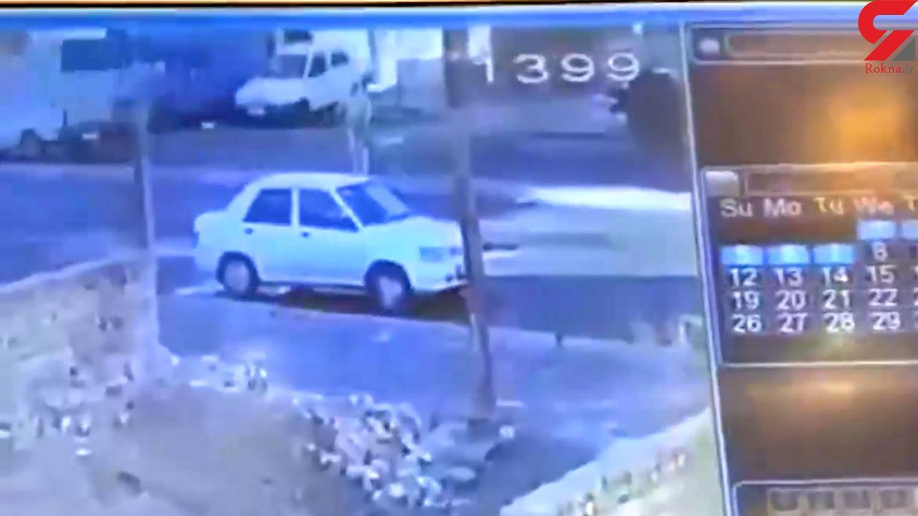 فیلم لحظه قتل یک رفتگر تهرانی / پراید گریخت