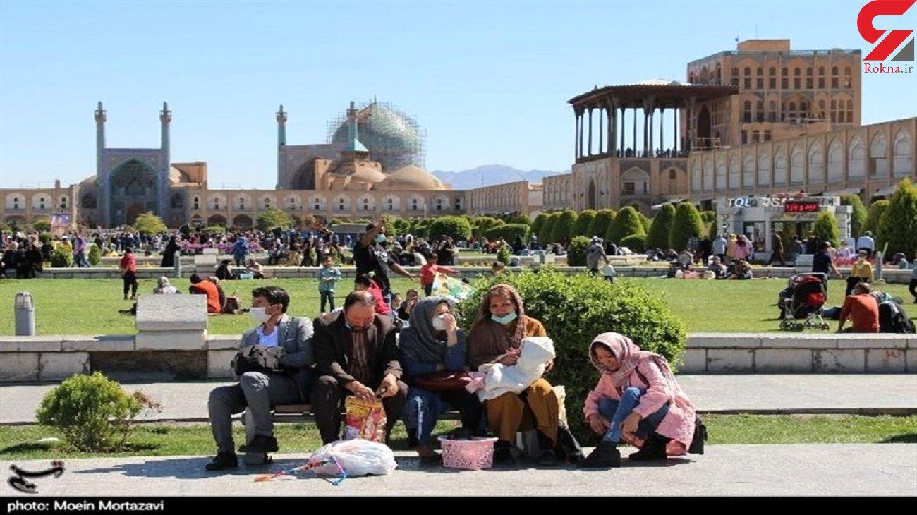 10 عکس تاسفبار از بازی با کرونا در عید اصفهان! + اصفهان ورود ممنوع شد
