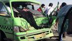 8 مجروح در تصادف ون و تریلی
