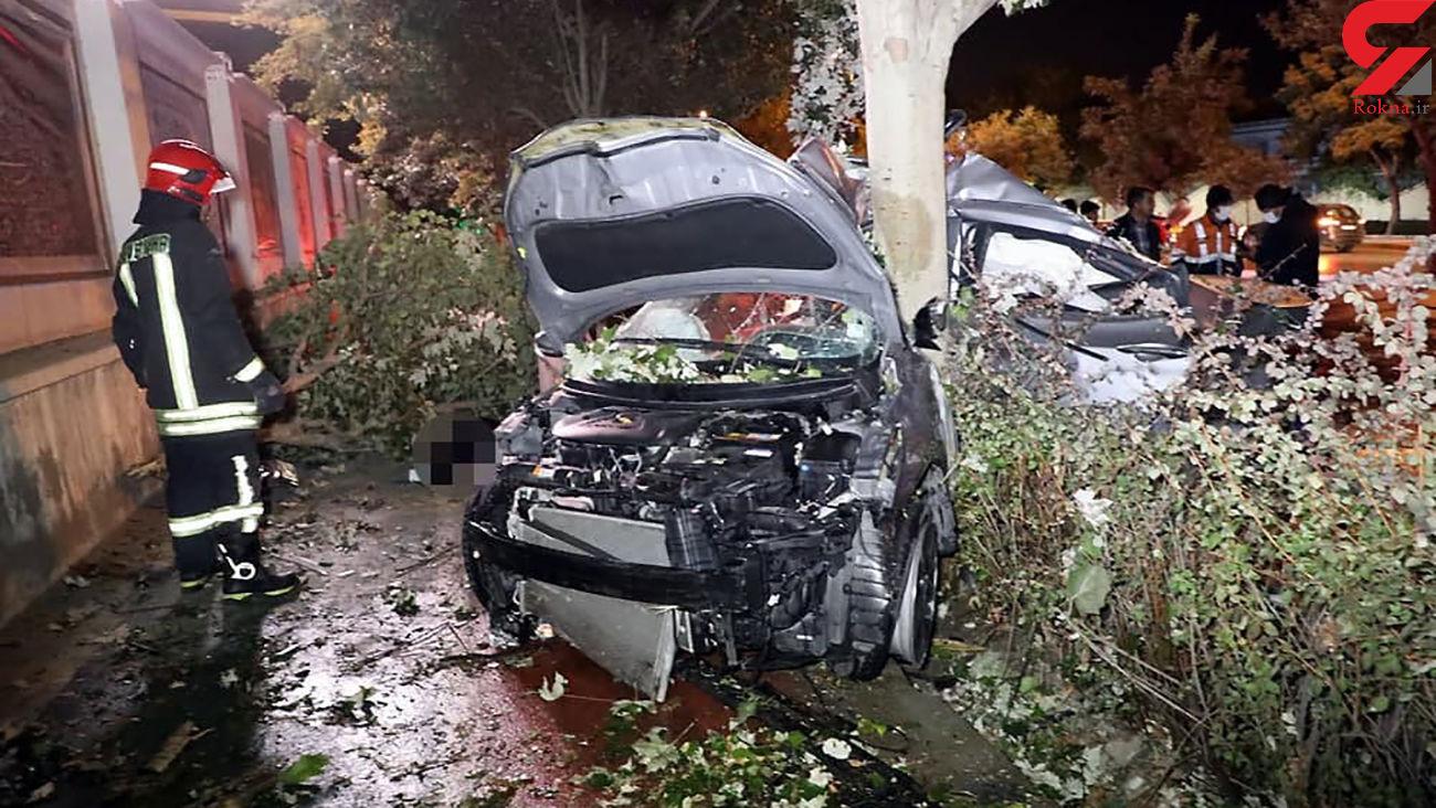 ۲ کشته و مجروح درسانحه مرگبار رانندگی در بولوار ملک آباد مشهد + عکس