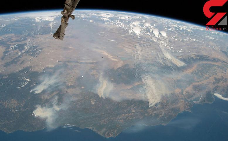 تصاویر تکان دهنده ماهوارهای از بزرگترین آتشسوزی تاریخ کالیفرنیا