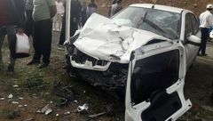 مرگ زن جوان در تصادف شدید 206 با سمند در جاده بیستون + عکس