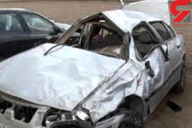 واژگونی وحشتناک 2 خودرو در بزرگراه تهران_قم / ظهر امروز رخ داد