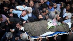 وقیح ترین اقدام در مراسم تشییع ناصر ملک مطیعی+ فیلم و عکس