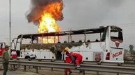 آیا آتش گرفتن اتوبوس اهواز - ماهشهر یک اقدام تروریستی بود؟+ عکس