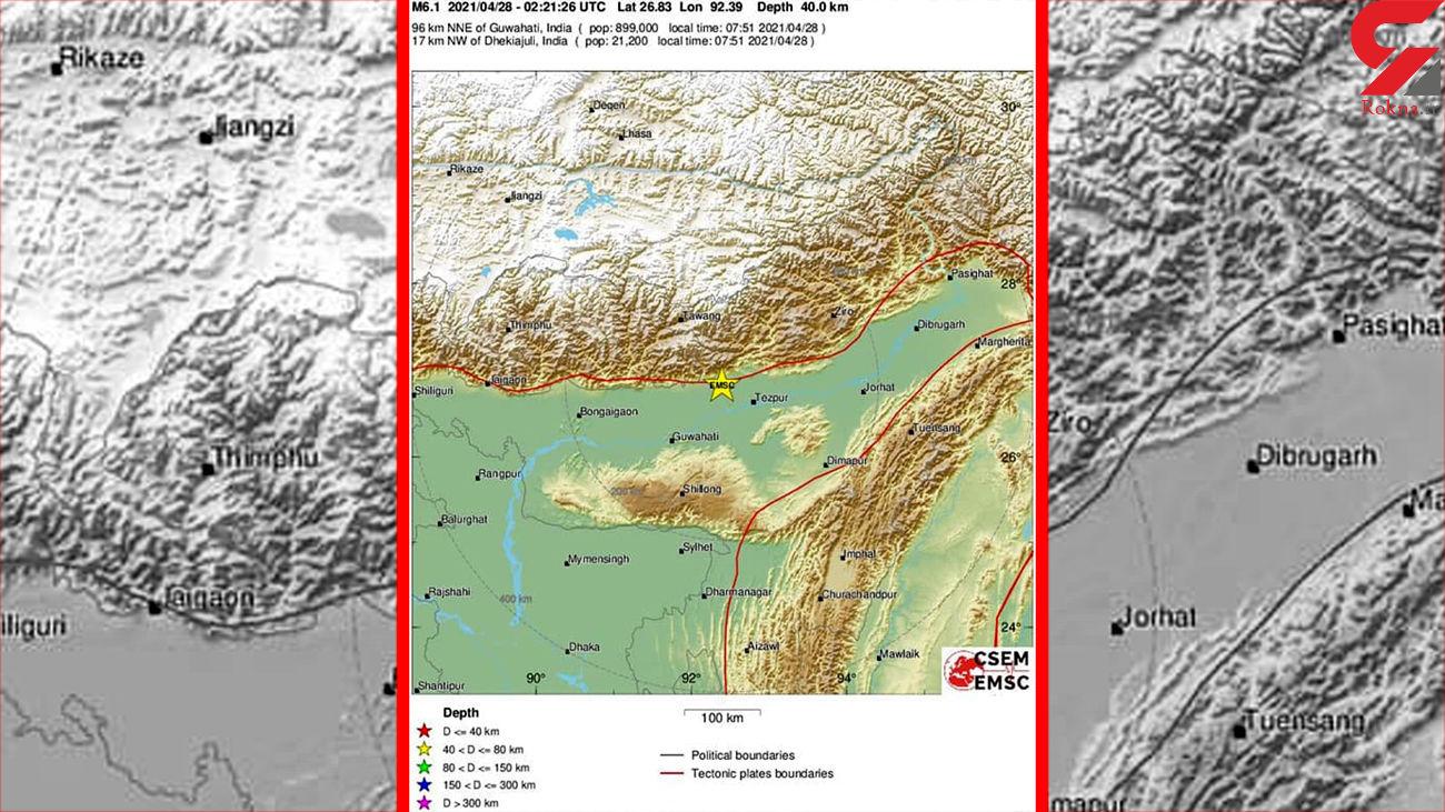 زلزله 6 ریشتری در هند