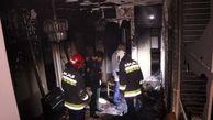 تصاویری از آتش گرفتن یک خانه در اصفهان