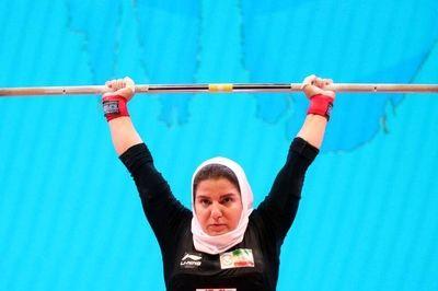 نخستین وزنه بردار زن ایران در مسابقات جهانی
