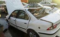 خواب آلودگی راننده سمند حادثه مرگباری را در آباده رقم زد + عکس
