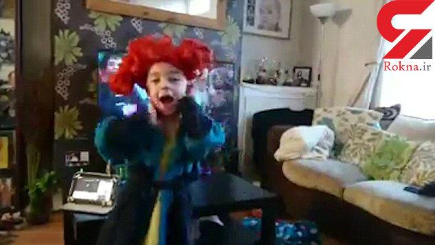 حرکات نمایشی عجیب پسر 5 ساله همه را شگفت زده کرد/ زن بازیگر به وی لقب بمب استعداد داد +عکس