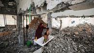 عکس تلخ از استحمام کودکان در فلسطین